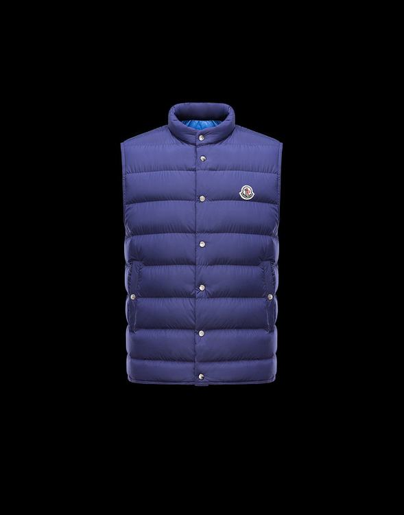 MONCLER FEBE MEN VEST Blue