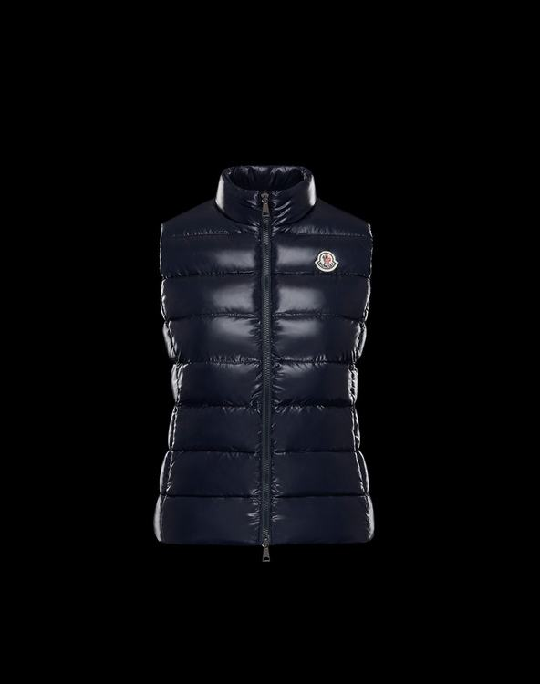 MONCLER GHANY Women Vest Dark Blue