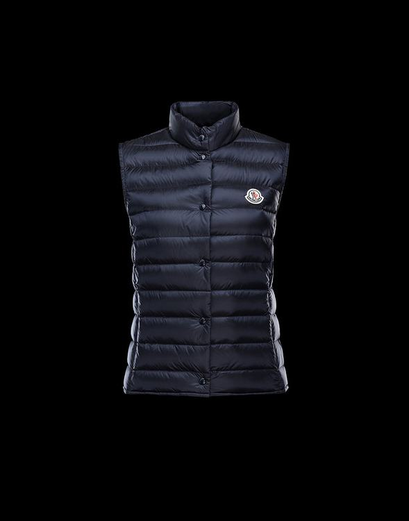 MONCLER LIANE Women Vest Dark Blue