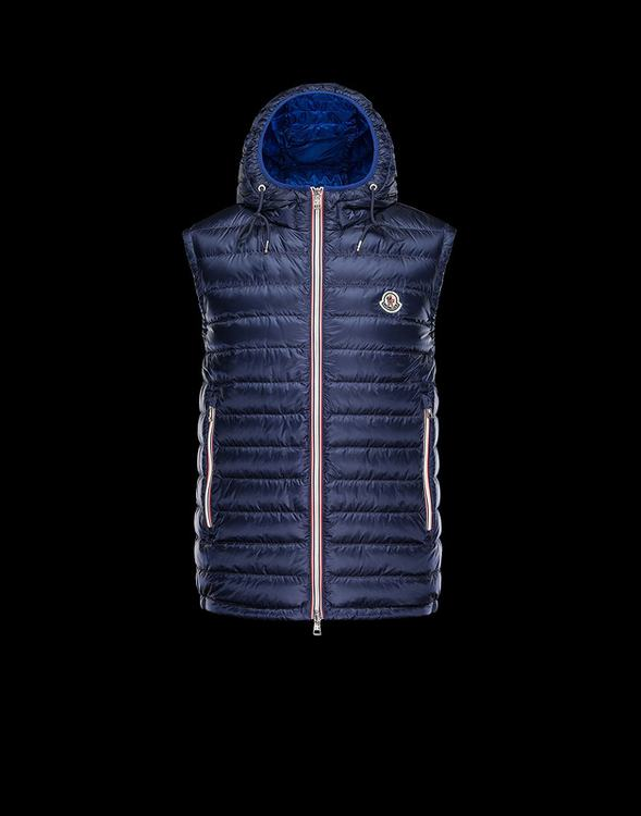 MONCLER NAPLES Men Vest Blue