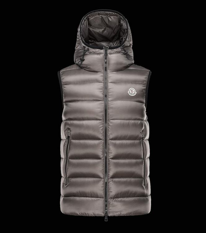 MONCLER RAY Men GILET Gray