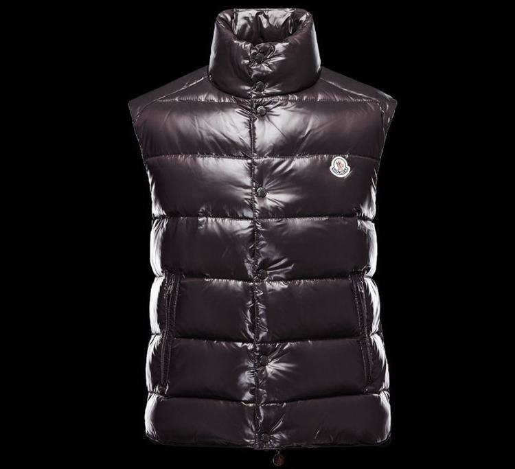 MONCLER TIB Men Vest Wine Red