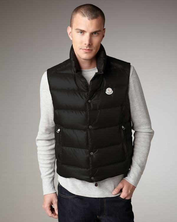 Moncler Cheval Men Vest Black