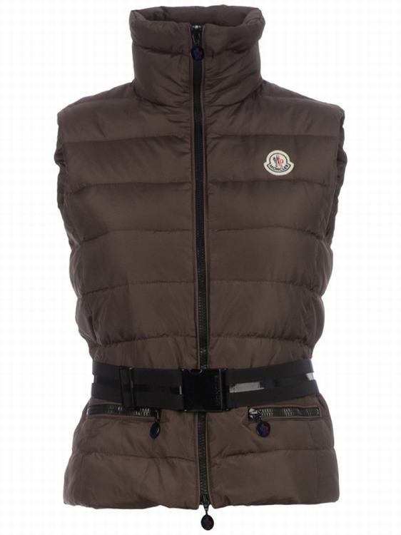 Moncler Gaelle Women Vest Brown