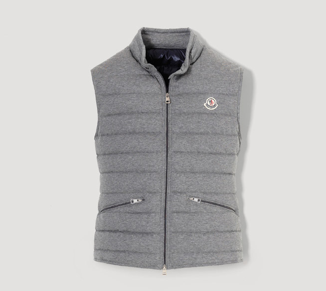 Moncler Gerard Men Vest Gray