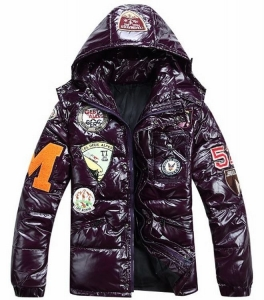 Moncler Badges Men Jacket Purple