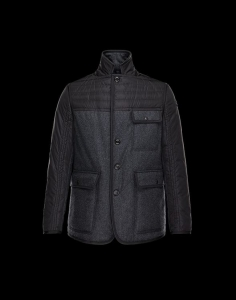 MONCLER BOURCE Men Black Gray