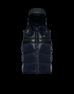 MONCLER BALMAT Men Vest Dark Blue