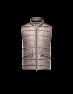 MONCLER GUI Men VEST Brown