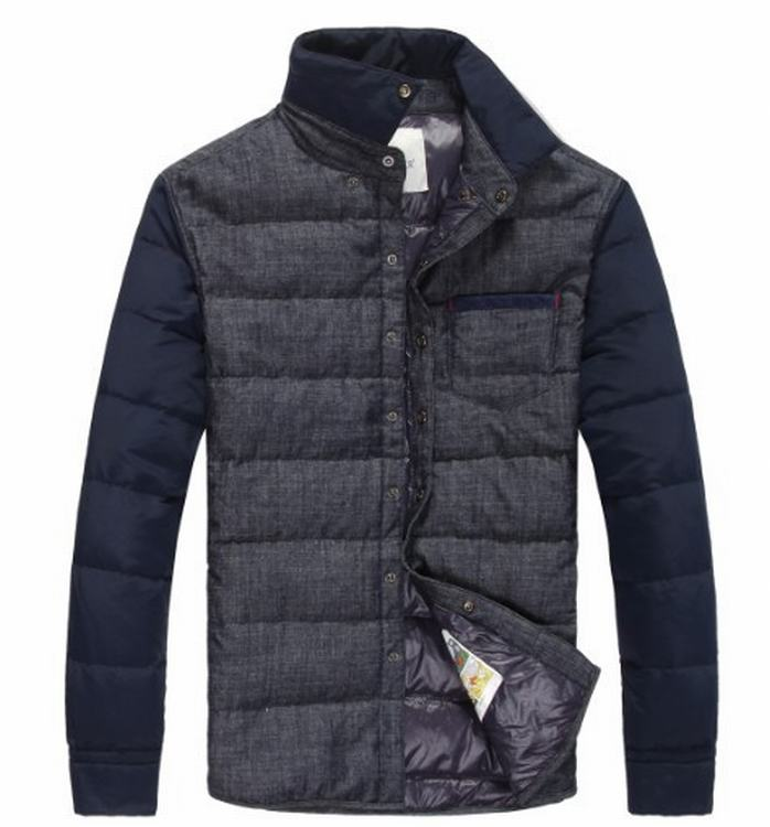 Moncler Anser Men Jacket Grey Blue