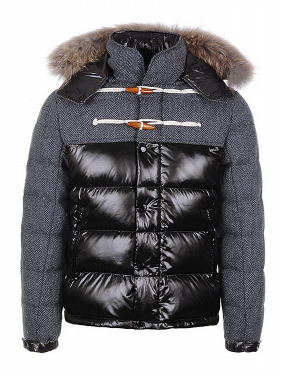 Moncler Anthime Men Jacket Grey Black