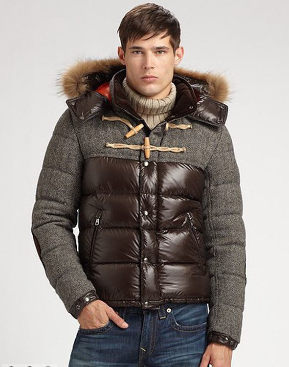 Moncler Anthime Men Jacket Grey Brown