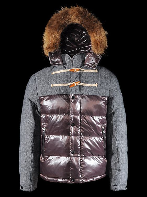 Moncler Anthime Men Jacket Grey Red