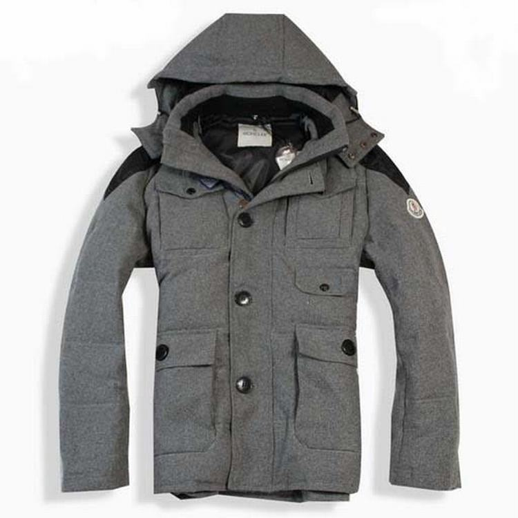 Moncler Briac Men Jacket Grey Black