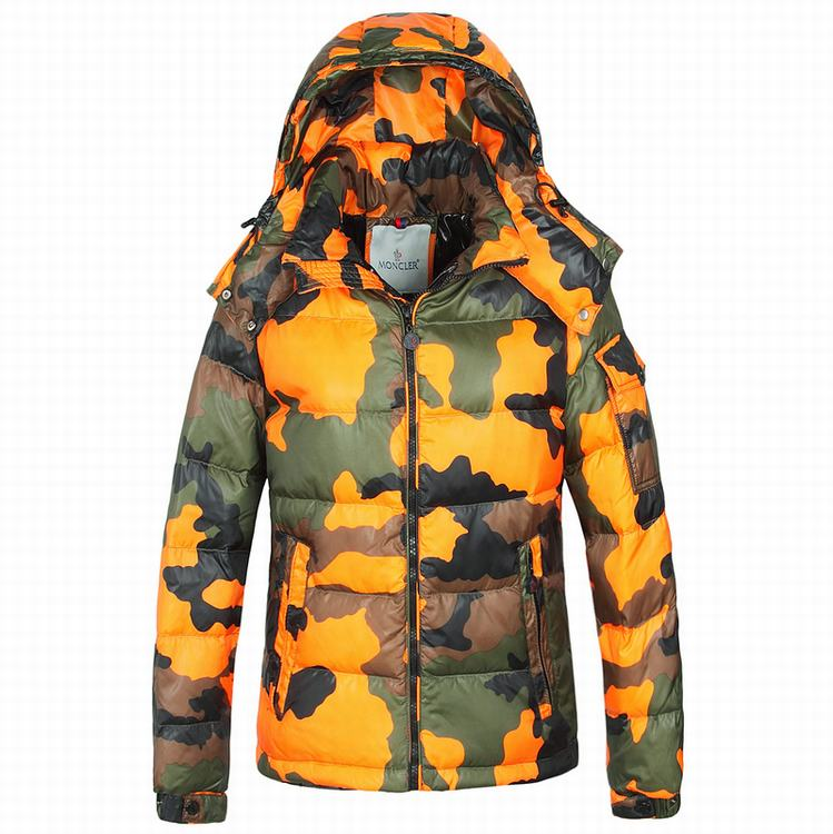 Moncler Camouflage Men Jacket Orange