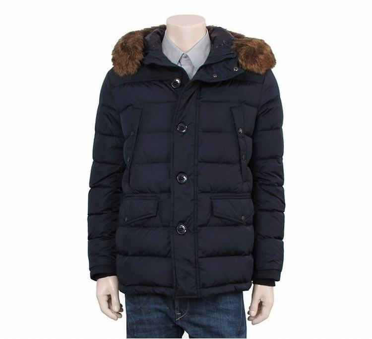 Moncler Charente Men Jacket Blue