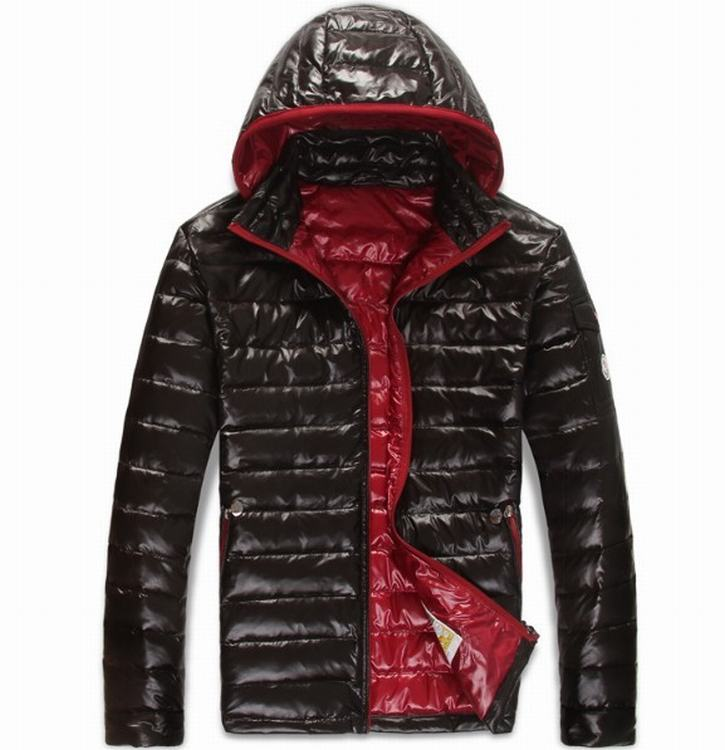 Moncler Guste Men Jacket Black Red