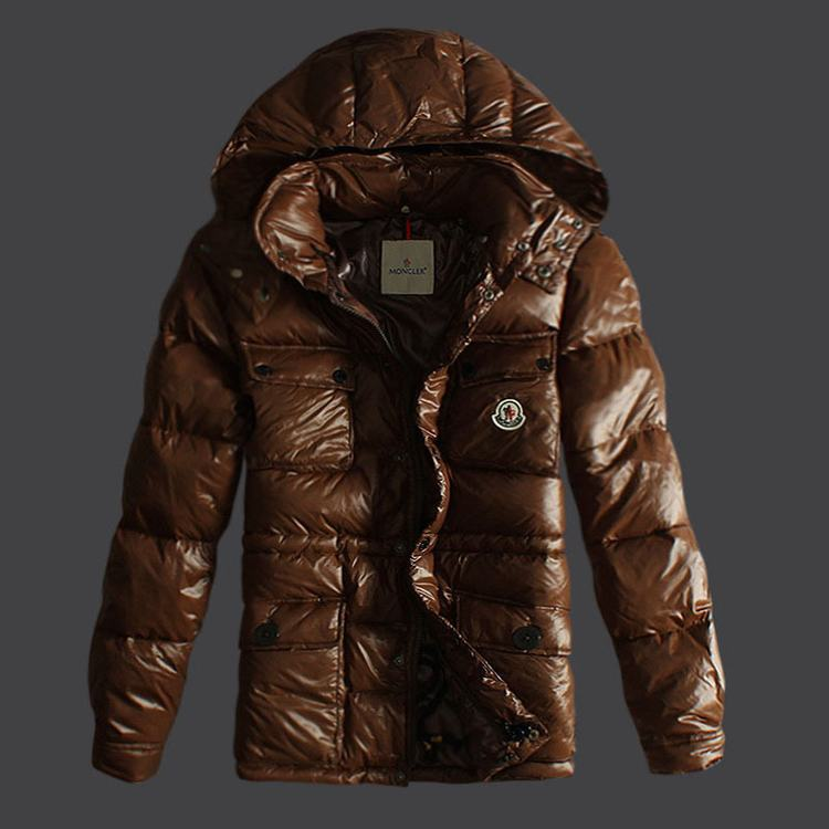 Moncler Mark Men Jacket Brown