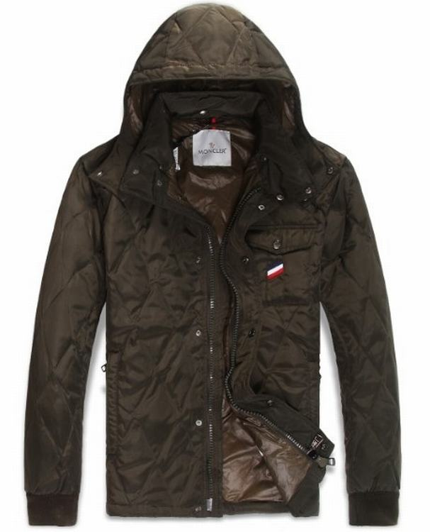 Moncler Maubeuge Men Jacket Dark Brown