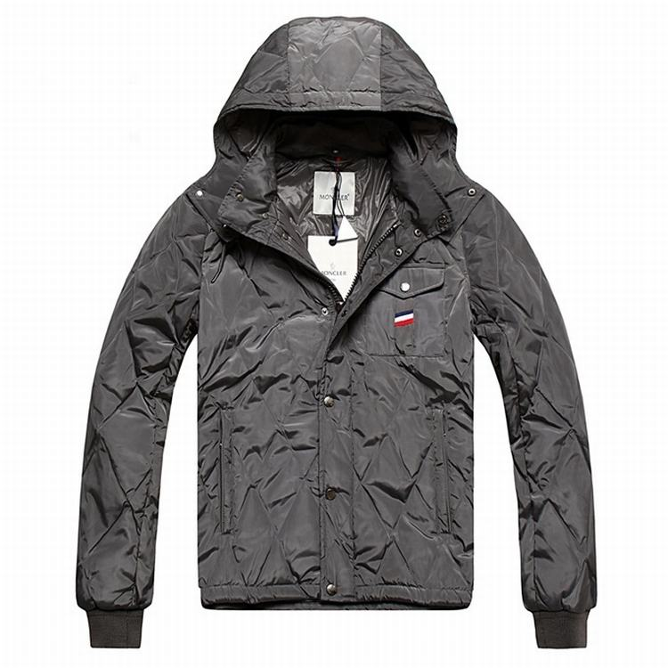 Moncler Maubeuge Men Jacket Silver Grey