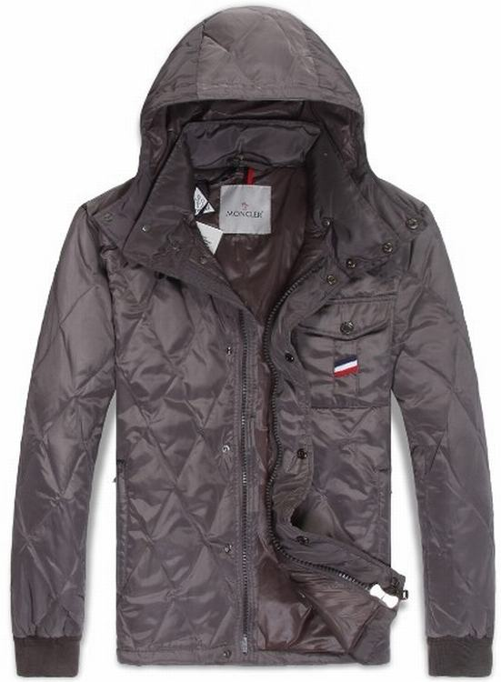 Moncler Maubeuge Men Jacket Silver Red