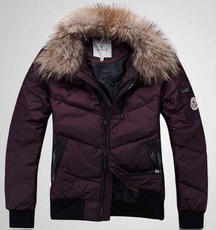 Moncler Outwear 03 Men Jacket Wine Red