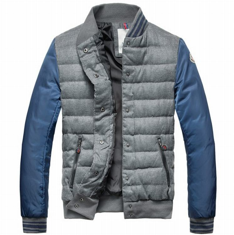 Moncler Perigord Men Jacket Grey Light Blue