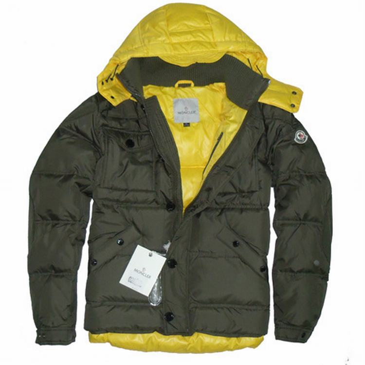 Moncler Rentilly Men Jacket Army Green Yellow
