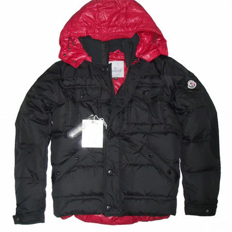 Moncler Rentilly Men Jacket Black Red