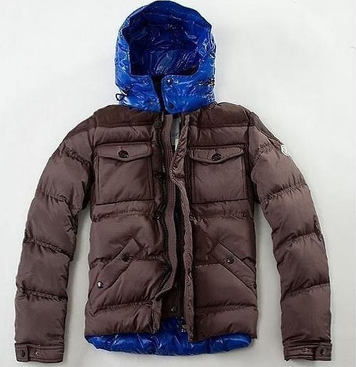Moncler Rentilly Men Jacket Brown Blue