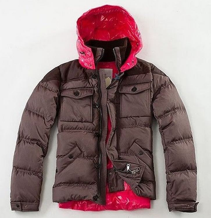 Moncler Rentilly Men Jacket Brown Red