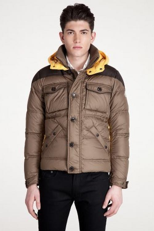 Moncler Rentilly Men Jacket Brown Yellow