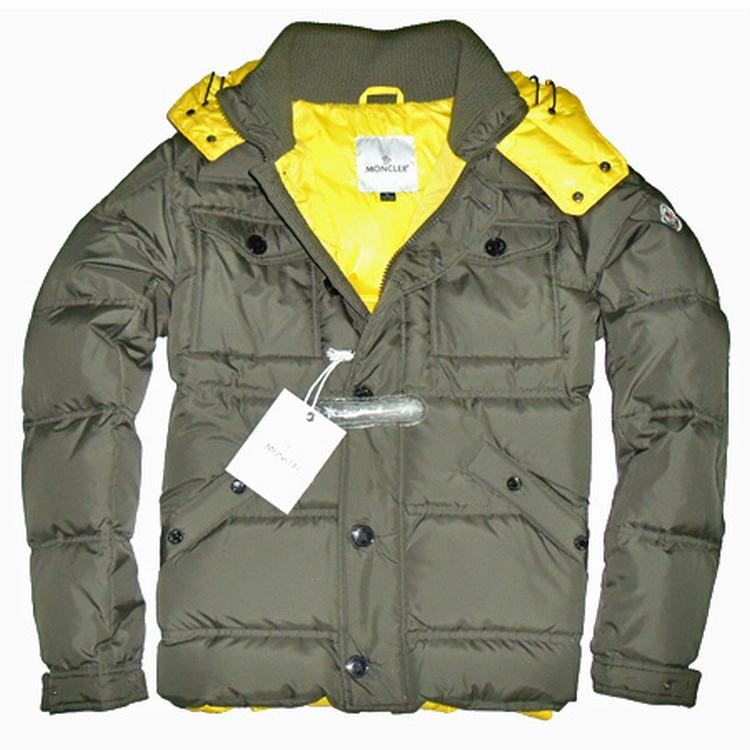 Moncler Rentilly Men Jacket Light Army Green Yellow