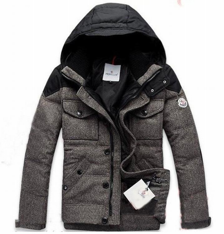 Moncler Republique 02 Men Jacket Grey Red