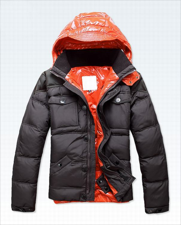 Moncler Rousseau Men Jacket Grey Orange