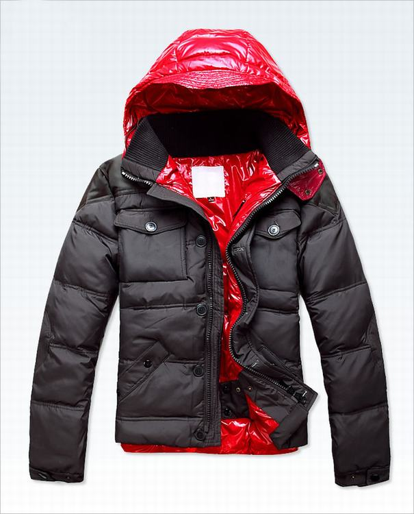 Moncler Rousseau Men Jacket Grey Red