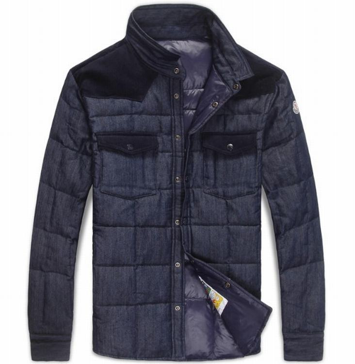 Moncler Tahiti Men Jacket Blue