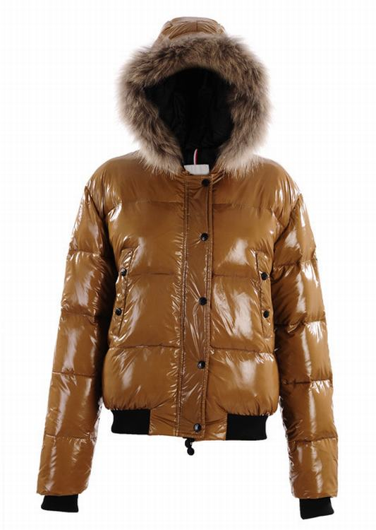 Moncler Alpin Women Jacket Brown