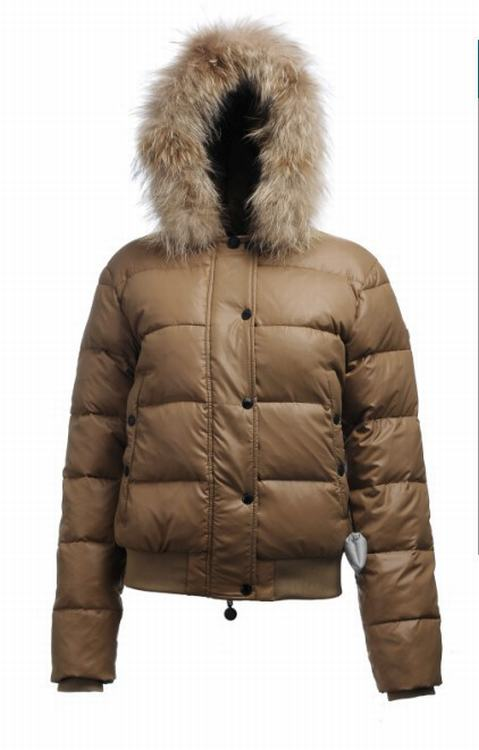 Moncler Alpin Women Jacket Khaki