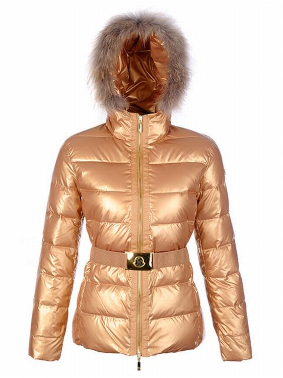 Moncler Angers Women Classic Jacket Gold
