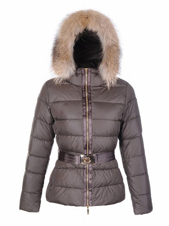 Moncler Angers Women Classic Jacket Grey Cherry