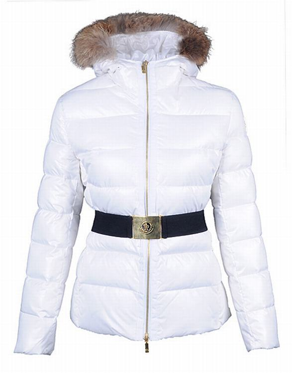 Moncler Angers Women Classic Jacket White Black
