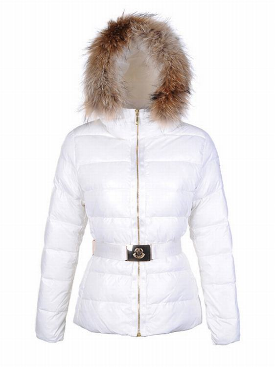 Moncler Angers Women Classic Jacket White
