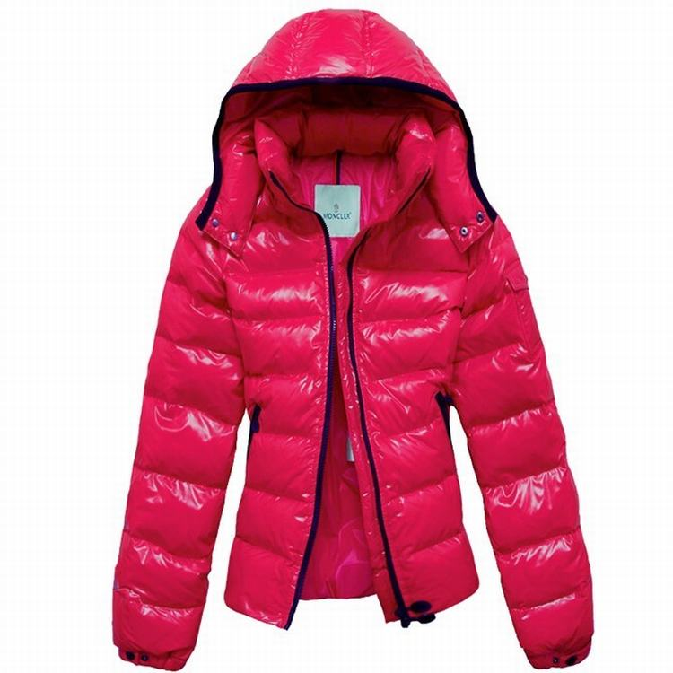 Moncler Bady Mabel Quilted Women Hooded Jacket Chinese Red