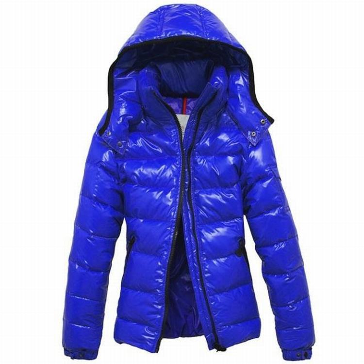 Moncler Bady Mabel Quilted Women Hooded Jacket Royal Blue