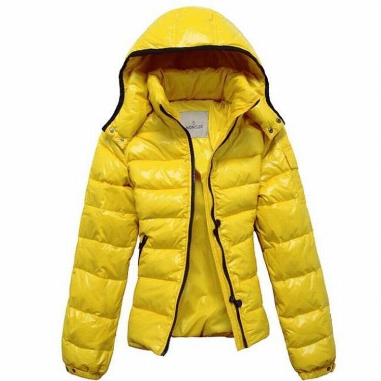 Moncler Bady Mabel Quilted Women Hooded Jacket Yellow