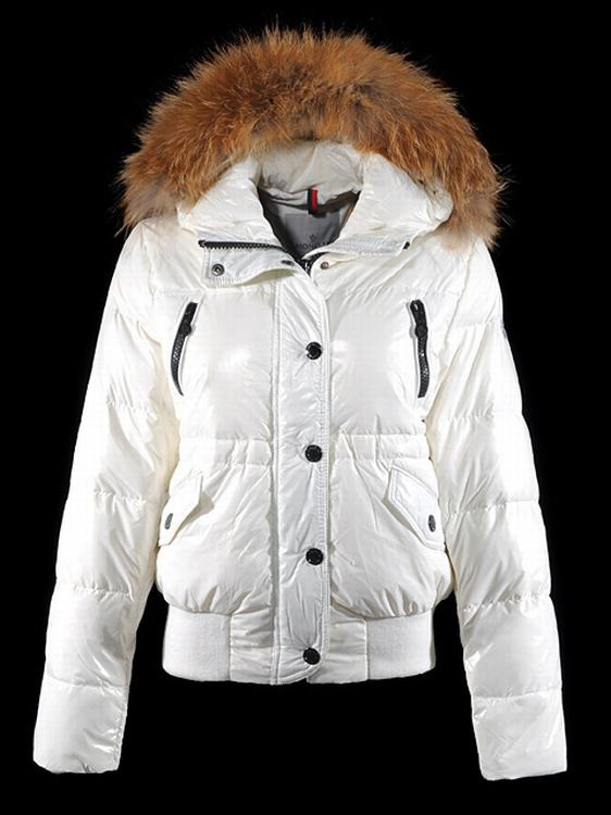 Moncler Breasted Women Jacket Cream White