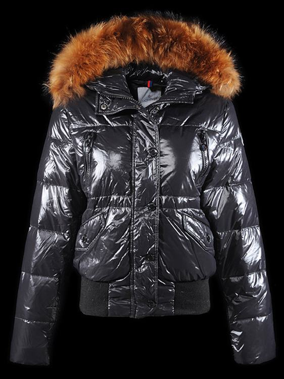 Moncler Breasted Women Jacket Dark Blue