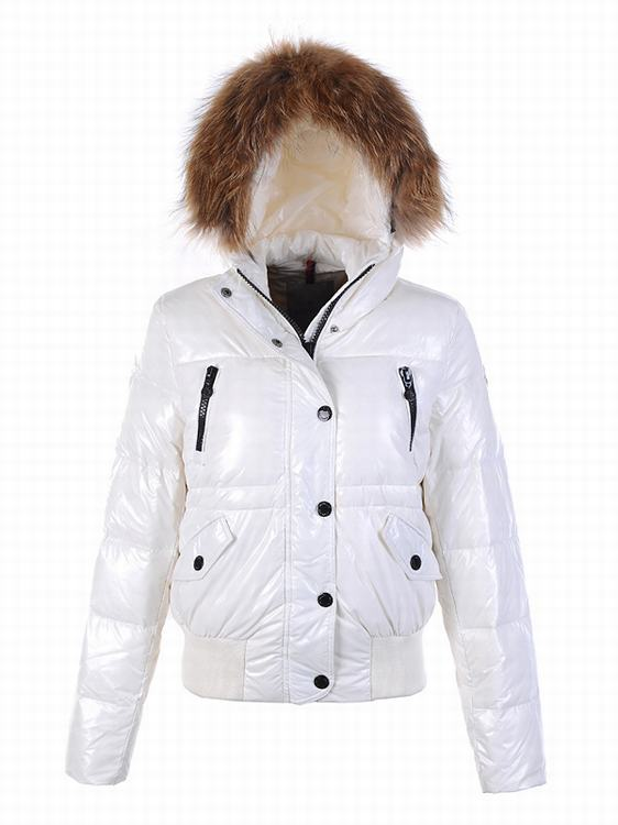 Moncler Breasted Women Jacket White