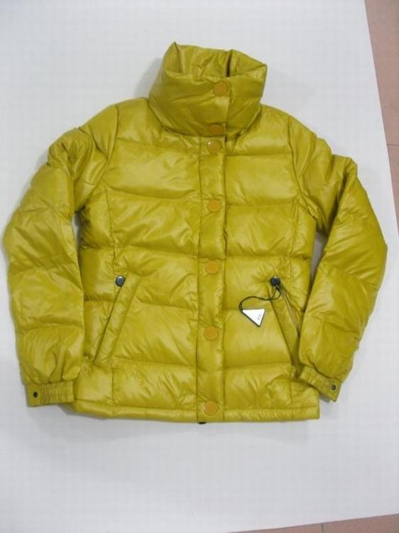 Moncler Clairy Women Classic Jacket Yellow Green